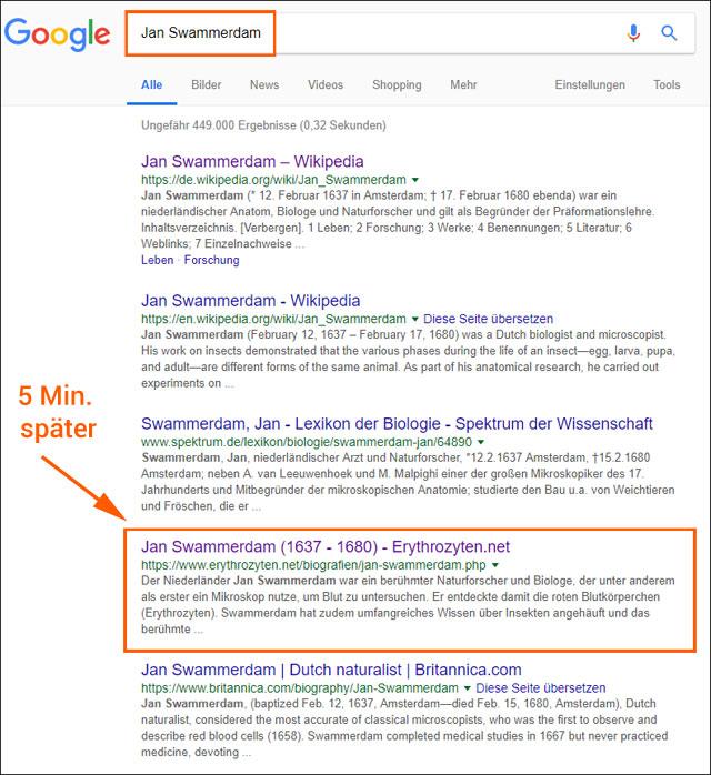 Google-Ranking für
