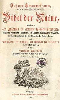 Bibel der Natur von Jan Swammerdam