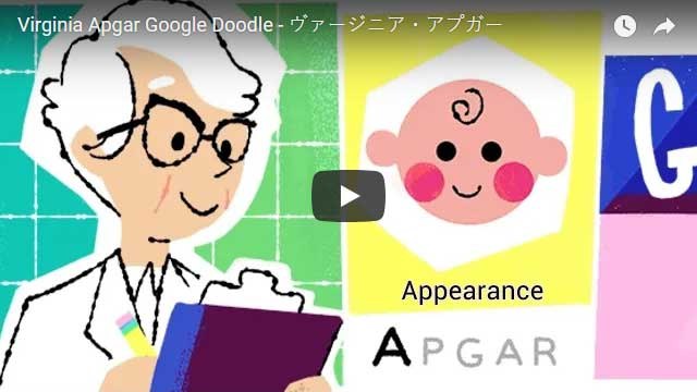 Virginia Apgar Google Doodle (Video)
